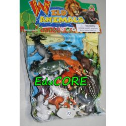 Dzikie zwierzęta figurki z planszą l614 EduCORE