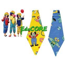 KLAUN PAJAC KRAWAT  kostium 3 kolory EduCORE