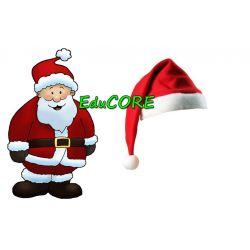 Święty Mikołaj czapka unniwersalny kostium EduCORE