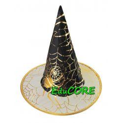 CZAROWNICA kapelusz tiara kostium ZŁOTY EduCORE