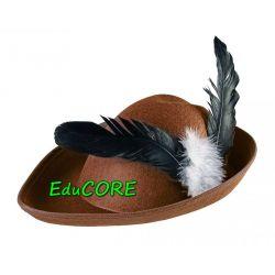 ROBIN HOOD kapelusz brąz piórko kostium EduCORE