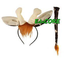 ŻYRAFA różki ZOO opaska ogon strój kostium EduCORE