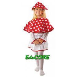MUCHOMOREK czapka kapelusz grzybek kostium EduCORE
