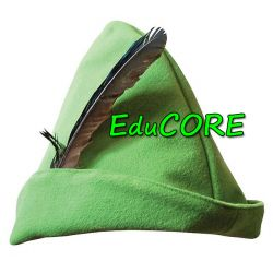 ROBIN HOOD czapka green kapelusz kostium EduCORE