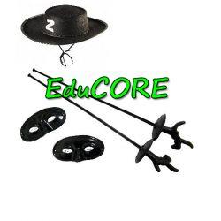 Zorro kapelusz maski szpady strój kostium EduCORE