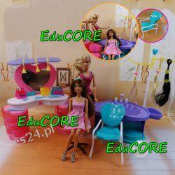 FRYZJERKA Barbie SALON PIĘKNOŚCI mebelki EduCORE