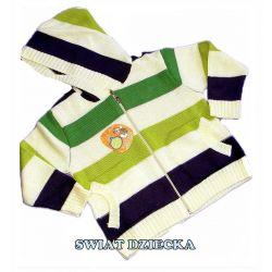 PENGUEN for KIDS Sweter w paski 128(8/9L)
