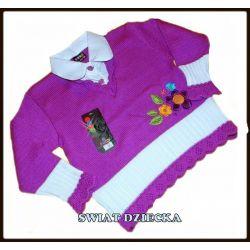 Sweter z kołnierzykiem hafty104/110(4/5l)3 Torebeczki i plecaczki