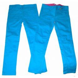 Spodnie bawełna modne 134/140(9/10l)niebieskie Rozmiar 128-134