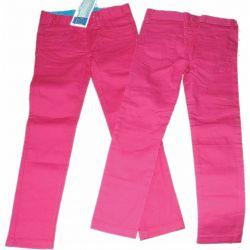 Spodnie bawełna modne kolory140/146(10L)amarant Rozmiar 104