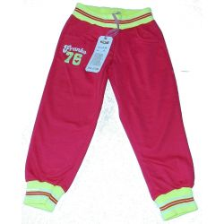 Spodnie dresowe ze ściągaczami 98/104(4)amarant Odzież