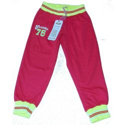 Spodnie dresowe ze ściągaczami 122/128(8)amarant Odzież
