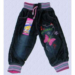 BUTTERFLY spodnie pumpki ocieplane jeans74/80(6/12M) Rozmiar 52-54