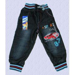 AUTKO spodnie pumpki jeans ociepl.80/86(12m) Rozmiar 122