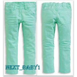 C&A Spodnie rurki bawełna strecz 92/98(2L)mięta Rozmiar 128-134