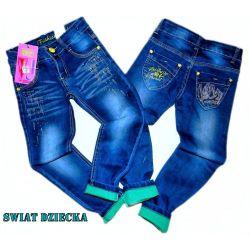 KSIEŻYC Spodnie jeansowe DLA NIEJ116/122(7) Rozmiar 54-56