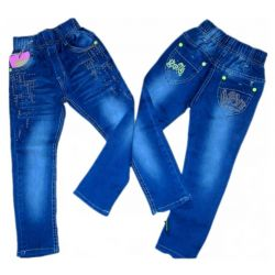 KSIEŻYC Spodnie jeans dżety dla NIEJ 98/104(4) Dla Dzieci