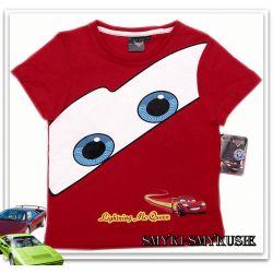 DISNEY CARS McQueen fajne koszulki128(8l)licencja Rozmiar 128