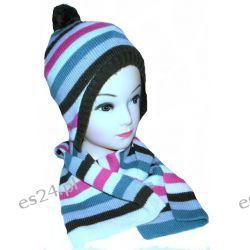 H&M czapka+szalik rozm 54/56