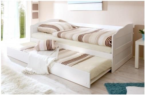 ko z wysuwanym drugim spaniem materace bielone na. Black Bedroom Furniture Sets. Home Design Ideas