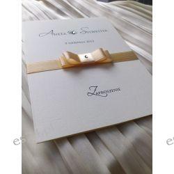 Zaproszenia, zawiadomienia na  Ślub z kopertą