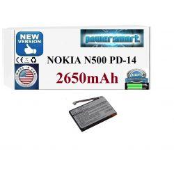 BATERIA 20-01673-01B NOKIA N500 TYPE PD-14 2650mAh Pozostałe