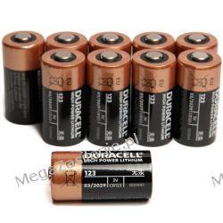 10 X Bateria Duracell CR123 CR123A DL123A EL123 3V