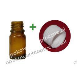 Butelka szklana brązowa  nakrętką 5 ml / 50 sztuk