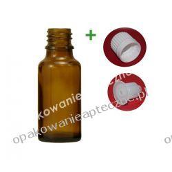 Butelka szklana brązowa z kroplomierzem i nakrętką z plombą 30 ml - 30 sztuk