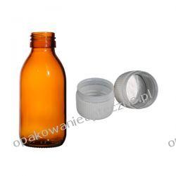 Butelki apteczne szklane + nakrętki z pierścieniem gwarancyjnym 150 ml /opak. 20 szt/