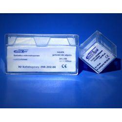 Szkiełka mikroskopowe nakrywkowe 100 szt - 16x16 Akcesoria i przybory