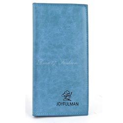 Portfel damski kopertówka etui na dokumenty skóra niebieski
