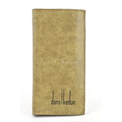 Portfel damski kopertówka etui na dokumenty skóra brudny beż