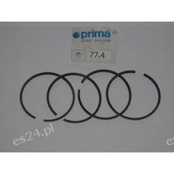 PIERŚCIENIE TŁOKOWE FSO FIAT 125P 1.5 ,II szlif 77.4 CHROMOWE Oryginał firmy Prima OE.016461  Pierścienie tłokowe
