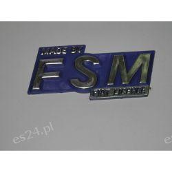 Znak modelu -Emblemat MADE BY FSM FIAT LICENCE OE.46576632/1 Gadżety motoryzacyjne