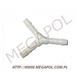 Trójnik Y-6/6/6mm/biały plastikowy...