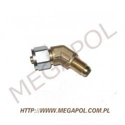 Złączka kątowa rury PCV8mm/12x1-Cu/135 stopni...