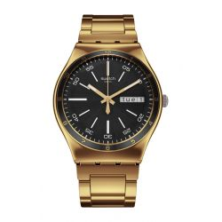 SWATCH IRONY BIG CHARCOAL MEDAL YELLOW