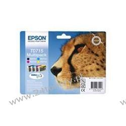 Zestaw Epson 4-pack DURABrite T0715 C13T07154010 do Stylus D78 / D92 / D120 / DX4050 / DX4400 / DX5000 / DX5050 / DX6000 / DX6050 / DX7000F / DX8400 / DX9400F / S20 / SX100 / SX105 / SX200 / SX205 /