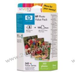Zestaw Q7934EE HP 343 Photo Value Pack | papier + tusz | Premium Photo Paper | 10x15c...