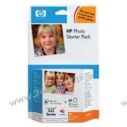 Zestaw Q7948EE HP 343 tri-colour Photo Starter Pack | 7ml | papier + tusz | Premium P...