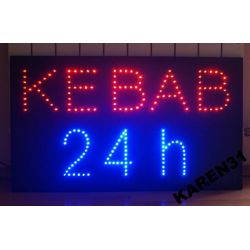 LED REKLAMA KEBAB 24h WEW. 79x45 cm migająca