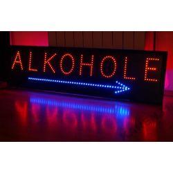 LED REKLAMA ZEWNĘTRZNA ALKOHOLE 135,5 x 35,5 cm