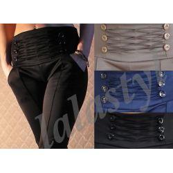 WŁOSKIE WYSZCZUPLAJĄCE spodnie przeszycia new S M