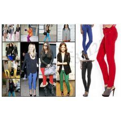 XL WYSZCZUPLAJĄCE RURKI 'JEANSY kolorowe spodnie L