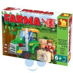 KLOCKI FARMA 28401 Traktor z przyczepą - 103 elem