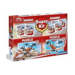 PUZZLE 2 x 30 el. + MEMO + DOMINO PLANES