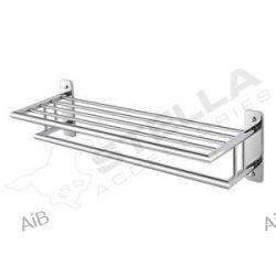 07.040  Seria: CLASSIC Półka na ręczniki z relingiem / mocowanie 4-punktowe