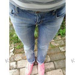 jeansy rurki biodrówki S