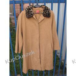 rudy płaszcz midi